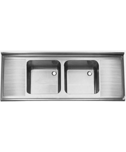 Ванна моечная двойная с 2-мя столешницами МВ-4